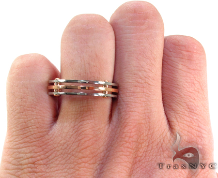 Caged Two Tone 18k Gold Ring Style