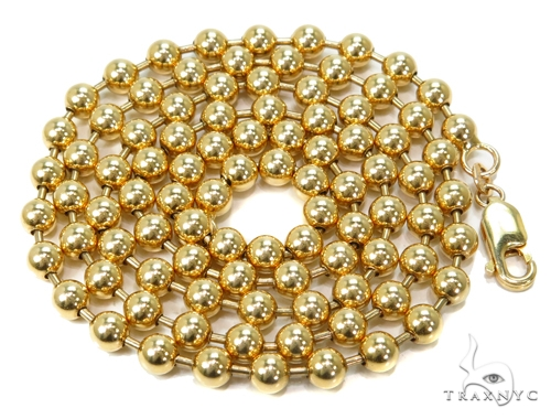 Bead Gold Chain 26 Inches 5mm 46.20 Grams-40111 Gold