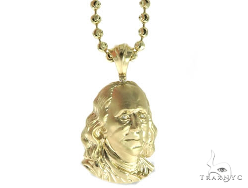 Benjamin Franklin Diamond Pendant & Chain Set Metal