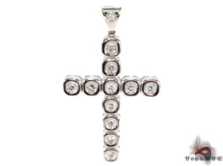 Bezel Cross Crucifix Diamond