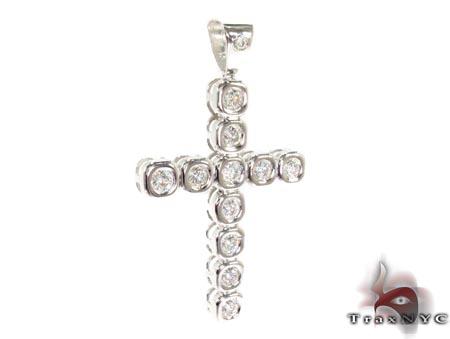 Bezel Cross Crucifix Diamond