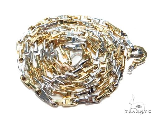 Bezel Diamond Bullet Gold Chain 41229 Gold