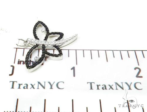 Bezel Diamond Butterfly Silver Pendant 37148 Metal