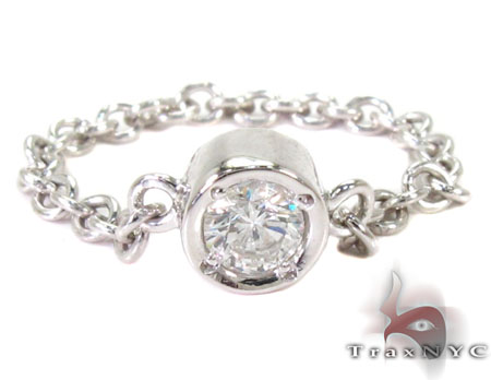 Bezel Diamond Chain Ring 27074 Engagement