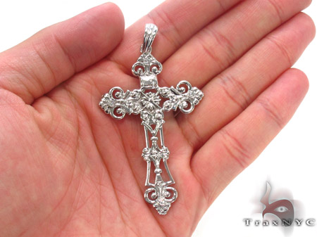 Bezel Diamond Cross Crucifix 33837 Diamond