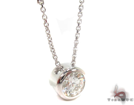 Bezel Diamond Necklace 32697 Diamond