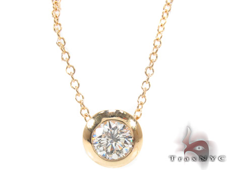 Bezel Diamond Necklace 33414 Diamond