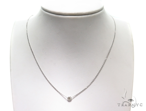 Bezel Diamond Necklace 40924 Diamond