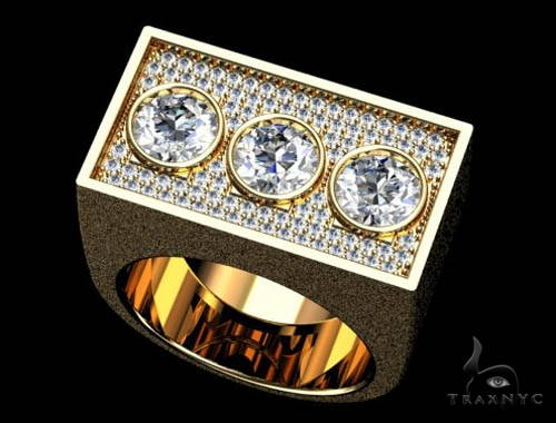 Bezel Custom Diamond Pinky Ring 36937 Style