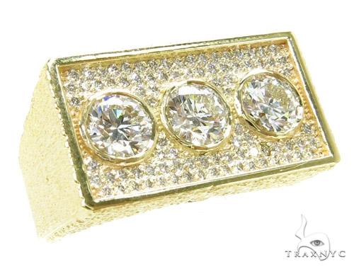 Bezel Custom Diamond Pinky Ring 36937 Style