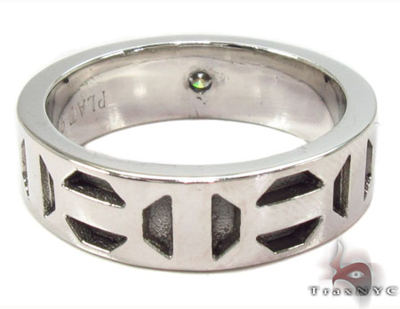 Bezel Diamond Platinum Ring 32218 Stone