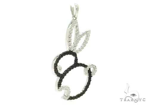 Bezel Diamond Rabbit Silver Pendant 37420 Metal
