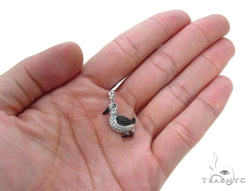 Bezel Diamond Silver Pendant 35006 Metal