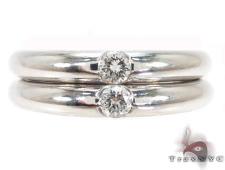 Bezel Diamond Couple Ring 32204 Wedding Band