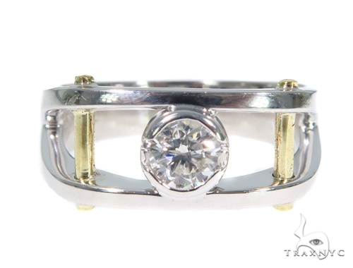 Bezel Diamond Wedding Ring 44895 Style