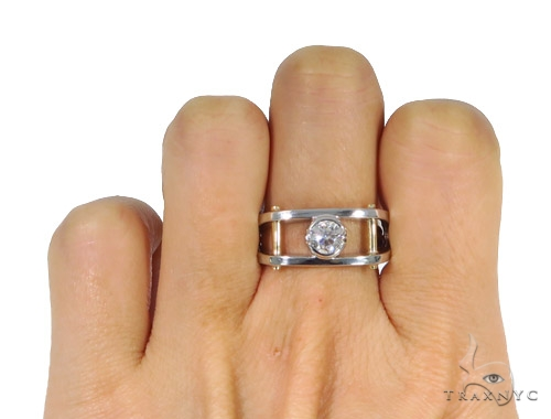 Bezel Diamond Wedding Ring 44895 Style