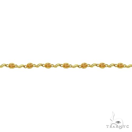 Bezel-Set Oval Citrine Bracelet in 14K Yellow Gold (7x5 mm) Gemstone & Pearl