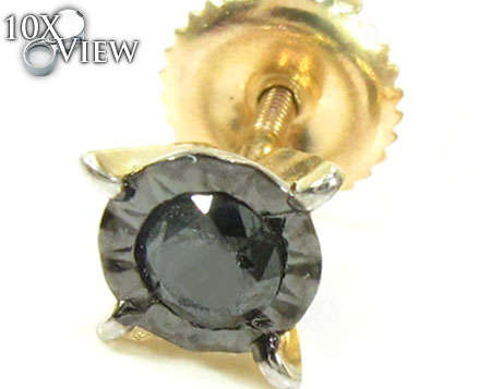 Bezel Single Black Diamond Earring Style