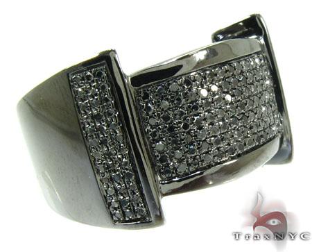 Black Castle Silver Diamond Ring 26096 Metal
