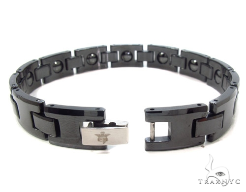 Black Ceramic and Stainless Steel Bracelet Stainless Steel