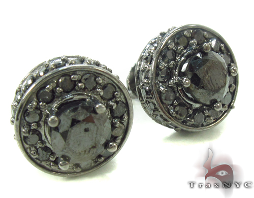 Black Diamond Earrings 34038 Stone