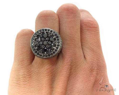 Black Diamond Silver Ring 34945 Metal