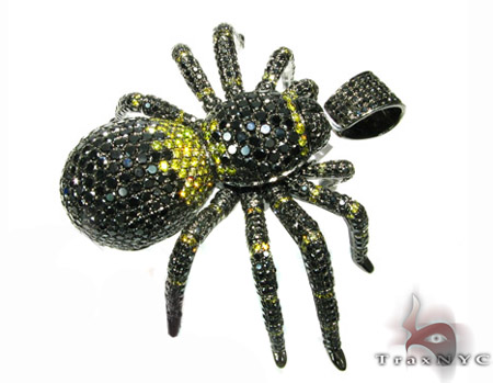 Black Diamond Spider Pendant Metal