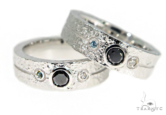 Black Diamond Topaz Couple Ring 49774 Stone