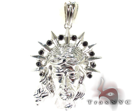 Black Diamond XL Jesus Head Pendant 29109 Style