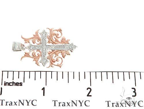 Black Ink Crew Small 14k Two Tone Diamond Filigree Cross Pendant 65103 Diamond