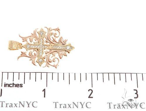 Black Ink Crew Small 14k Two Tone Diamond Filigree Cross Pendant 65102 Diamond