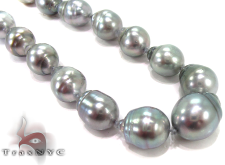 Black Pearl Ladies Necklace 27354 Pearl