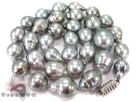 Black Pearl Ladies Necklace 27354 Pearl