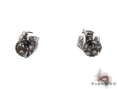 Black Prong Diamond Stud Earrings 20734 Style