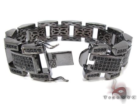 Black Rhodium Silver Bracelet Silver
