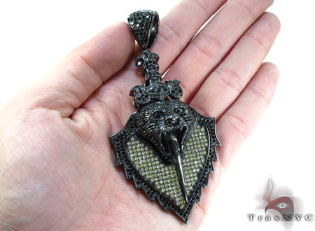 Black Rhodium Silver Pendant Metal