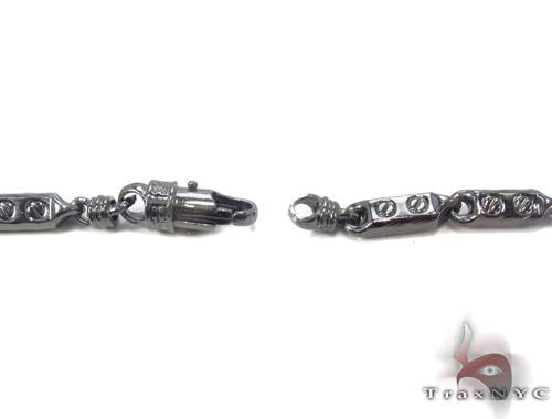 Black Silver Fancy Link n 30 Inches, 5mm, 34.9 Grams Silver