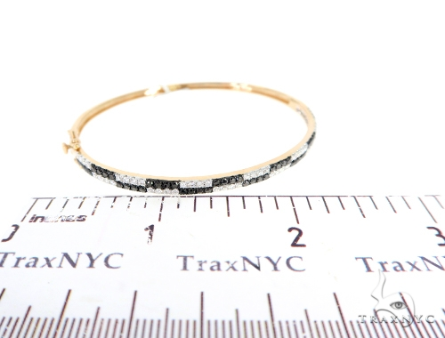 Black and White Bangle Bracelet 56497 Diamond