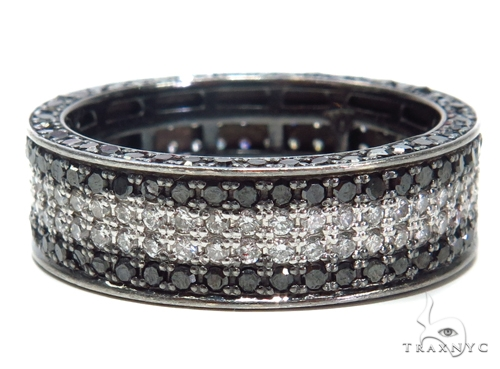 Black and White Diamond Wedding Band 40772 Style