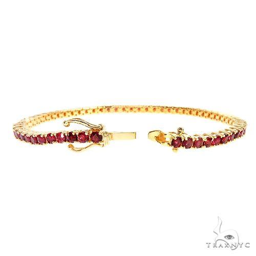 Blood Red 10 Pointer Sapphire Tennis Bracelet 67050 67066 Multicolor SAPPHIRE