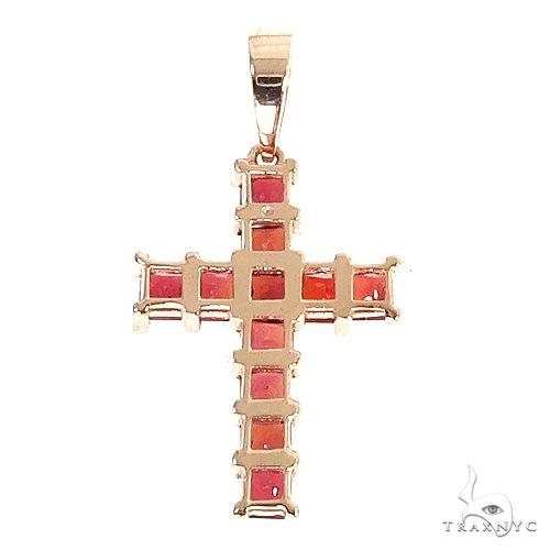Blood Red Princess Cut Sapphire Cross 67086 Multicolor SAPPHIRE