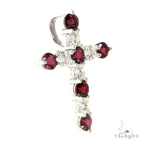 Blood Red Sapphire Diamond Cross 66991 Multicolor SAPPHIRE