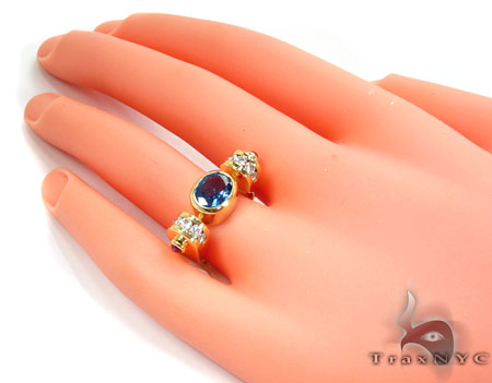 Blue Angel Wings Diamond Ring Anniversary/Fashion
