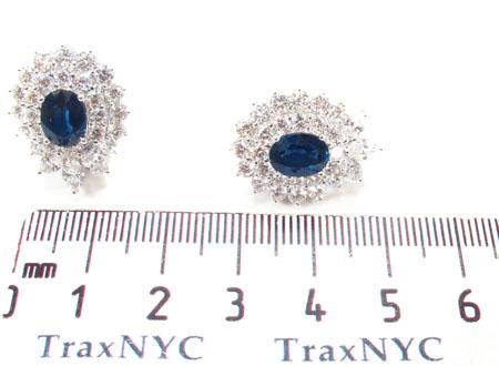 Cornflower Blue Sapphire Diamond Earrings Stone