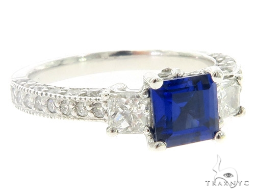 Blue Sapphire Diamond Anniversary/Fashion Ring 49442 Anniversary/Fashion