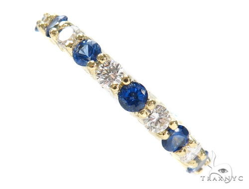 Blue Sapphire Diamond Ring 43118 Anniversary/Fashion