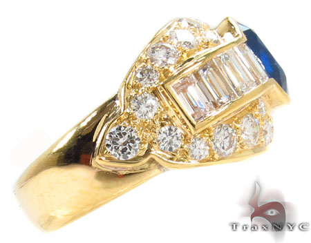 oval cut Sapphire Diamond Ring 31549 Anniversary/Fashion