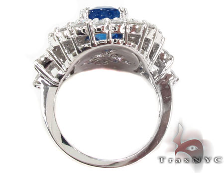 cushion cut Sapphire & Diamond Ring 31550 Anniversary/Fashion
