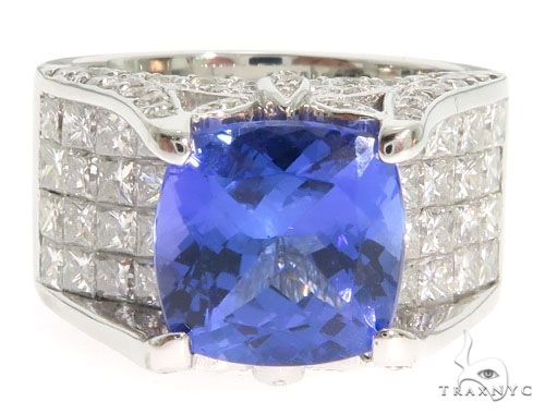 Blue Tanzanite Engagement Ring 61555 Engagement