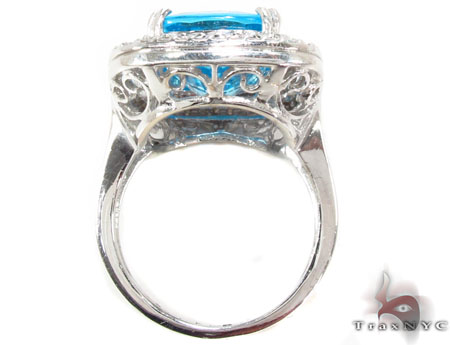 Blue Topaz Diamond Ring 31546 Anniversary/Fashion
